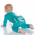 Kickee Pants Applique Coverall in Lagoon Bones