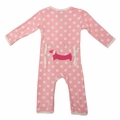 Kickee Pants Applique Coverall in Lotus Dot Pup