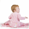Kickee Pants Applique Coverall in Lotus Duck
