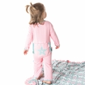 Kickee Pants Applique Coverall in Lotus Fancy Starfish