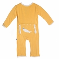 Kickee Pants Applique Coverall in Marigold Otter