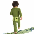 Kickee Pants Applique Coverall in Moss Koala
