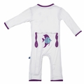Kickee Pants Applique Coverall in Natural Angelfish