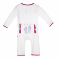 Kickee Pants Applique Coverall in Natural Flip Flop
