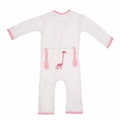 Kickee Pants Applique Coverall in Natural Stuffed Giraffe