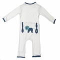 Kickee Pants Applique Coverall in Natural Stuffed Lion