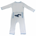 Kickee Pants Applique Coverall in Natural Whale