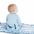 Kickee Pants Applique Coverall in Pond T-Rex