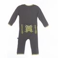 Kickee Pants Applique Coverall in Rain Toad - size 0-3M left!