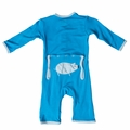 Kickee Pants Applique Coverall in River Pig - size 0-3M left!