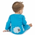 Kickee Pants Applique Coverall in River Sheep - last one size 0-3M!