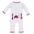 Kickee Pants Applique Coverall in Thistle Elephant