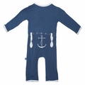 Kickee Pants Applique Coverall in Twilight Anchor