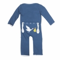 Kickee Pants Applique Coverall in Twilight Stork - size 18-24M left!