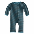 Kickee Pants Baby Boys' Print Fitted Coverall in Boy Tundra Stripe