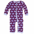 Kickee Pants Baby Girls' Fitted Ruffle Coverall in Melody Musk Ox