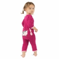 Kickee Pants Bamboo Applique Coverall in Berry Cow