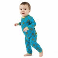 Kickee Pants Bamboo Coverall in River Hay Bales - size 0-3M left!