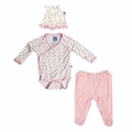 Kickee Pants Bamboo Newborn Gift Set in Natural Buds - size 3-6M left!