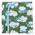 Kickee Pants Blanket in Moss Airplane
