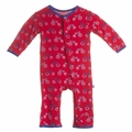 Kickee Pants Coverall in Balloon Tricycle - size 0-3M left!