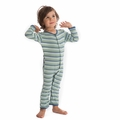 Kickee Pants Coverall in Boy Sail Away Stripe - size 0-3M left!