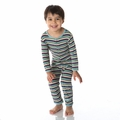 Kickee Pants Coverall in Boy Space Stripe