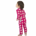 Kickee Pants Coverall in Calypso Record Bird