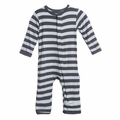 Kickee Pants Coverall in Contrast Stripe