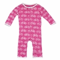 Kickee Pants Coverall in Flamingo Bike
