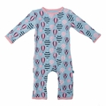 Kickee Pants Coverall in Girl Baloons
