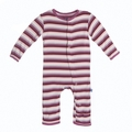 Kickee Pants Coverall in Girl Dino Stripe