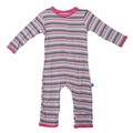 Kickee Pants Coverall in Girl Sail Away Stripe