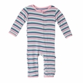 Kickee Pants Coverall in Girl Space Stripe