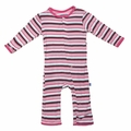 Kickee Pants Coverall in Girls Bobsled Stripe
