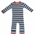 Kickee Pants Coverall in Goldfish Stripe
