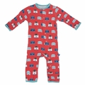Kickee Pants Coverall in Goldfish Toaster - last one size 0-3M!