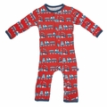 Kickee Pants Coverall in Goldfish Train - size 0-3M left!