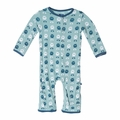 Kickee Pants Coverall in Jade Alien