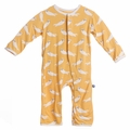 Kickee Pants Coverall in Marigold Otter - size 0-3M left!