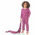 Kickee Pants Coverall in Melody Giraffe - sizes 0-3M & 4T left!