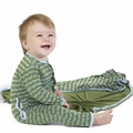 Kickee Pants Coverall in Moss Ant