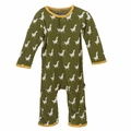 Kickee Pants Coverall in Moss Duck
