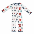 Kickee Pants Coverall in Natural Baby Laundry