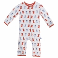 Kickee Pants Coverall in Natural Beach Pup