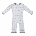 Kickee Pants Coverall in Natural Snowflake