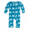Kickee Pants Coverall in Oasis Monkey