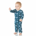 Kickee Pants Coverall in Peacock Hedgehog - size 0-3M left!