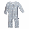 Kickee Pants Coverall in Pearl Duck - size 18-24M left!