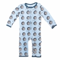 Kickee Pants Coverall in Pond Record Birds - sizes 0-3M & 3-6M left!